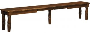 Expandable French Country Bench