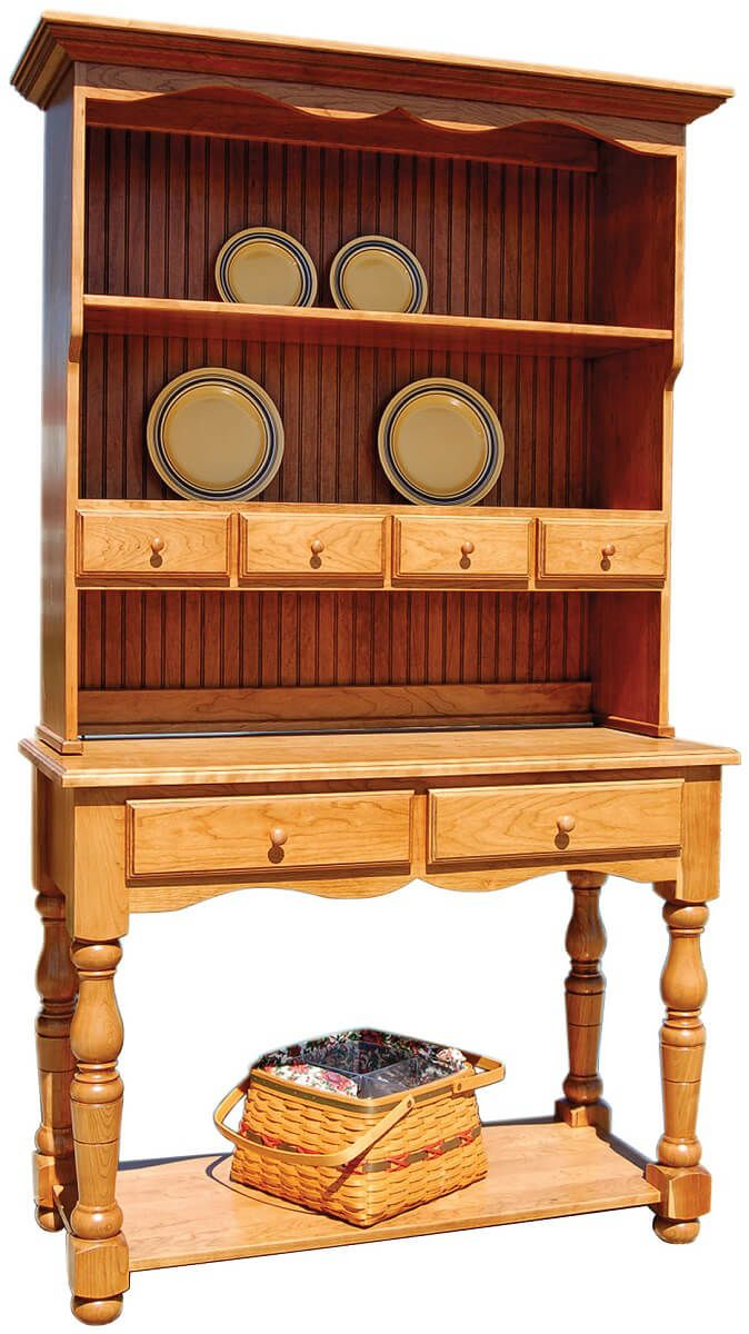 Jolie French Country Hutch in Cherry