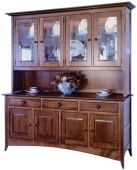 Logan County 4-Door China Cabinet