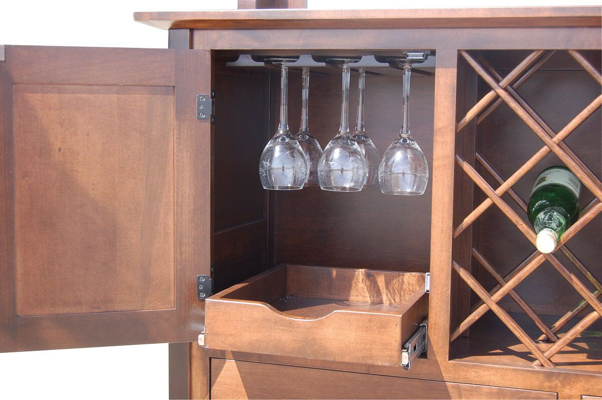Optional Stemware Cabinet