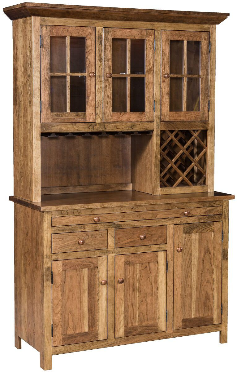 Pleasant Hill China Hutch and Wine Rack