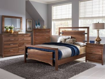 nehalem live edge bedroom set countryside amish furniture