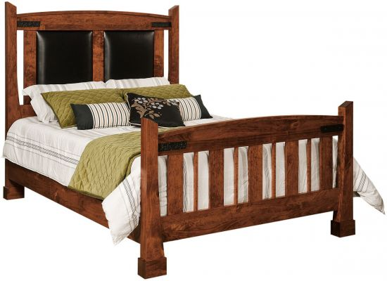 Abilene Bed with Leather Headboard