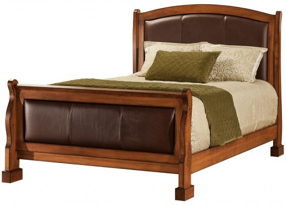 Amelie Leather Upholstered Bed