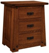 Lunada 3-Drawer Nightstand