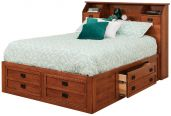 Solid Wood Storage Beds