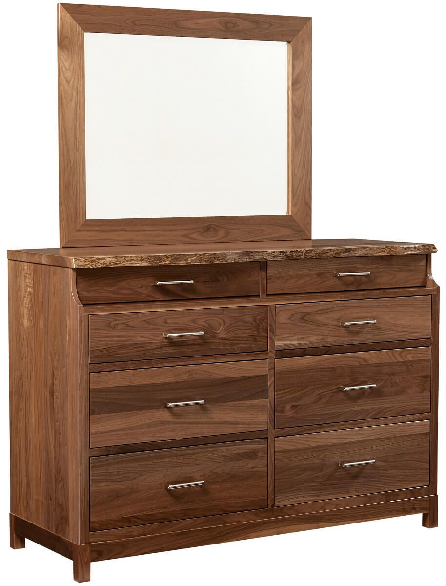 Nehalem Live Edge Dresser with Mirror