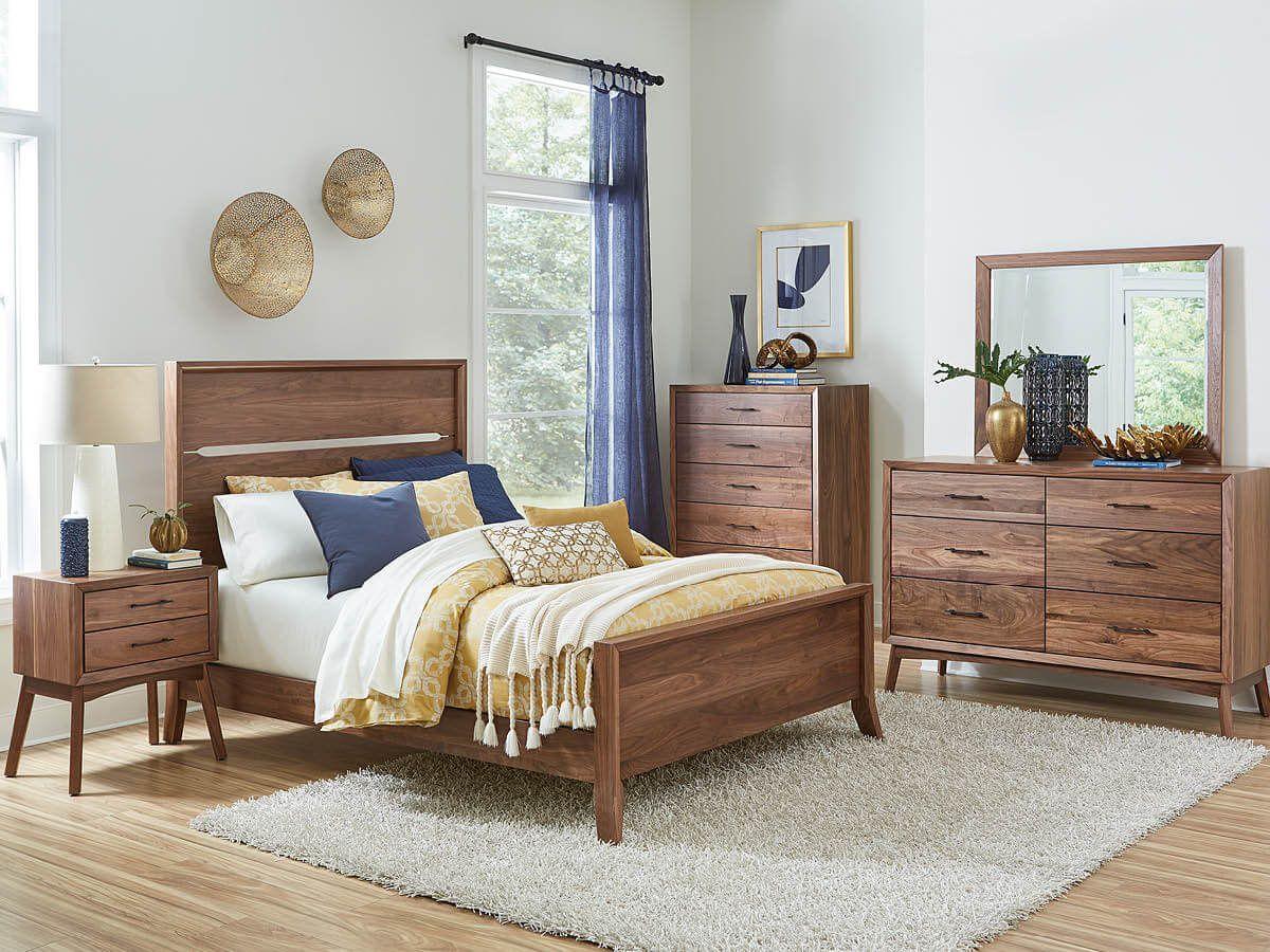 Cyprus Mid-Century Modern Bedroom Set