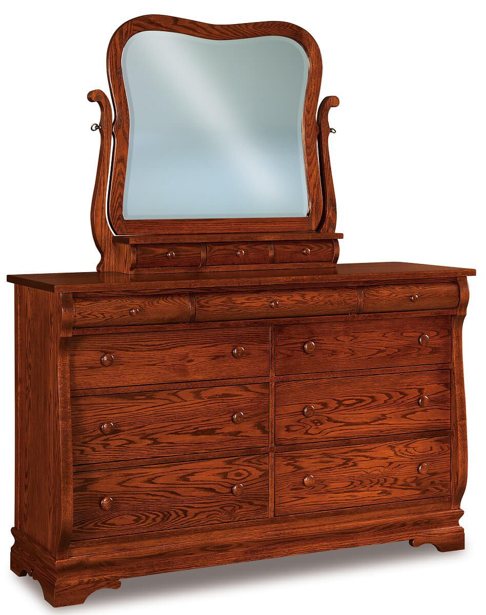 Milwaukee Sleigh 9-Drawer Dresser