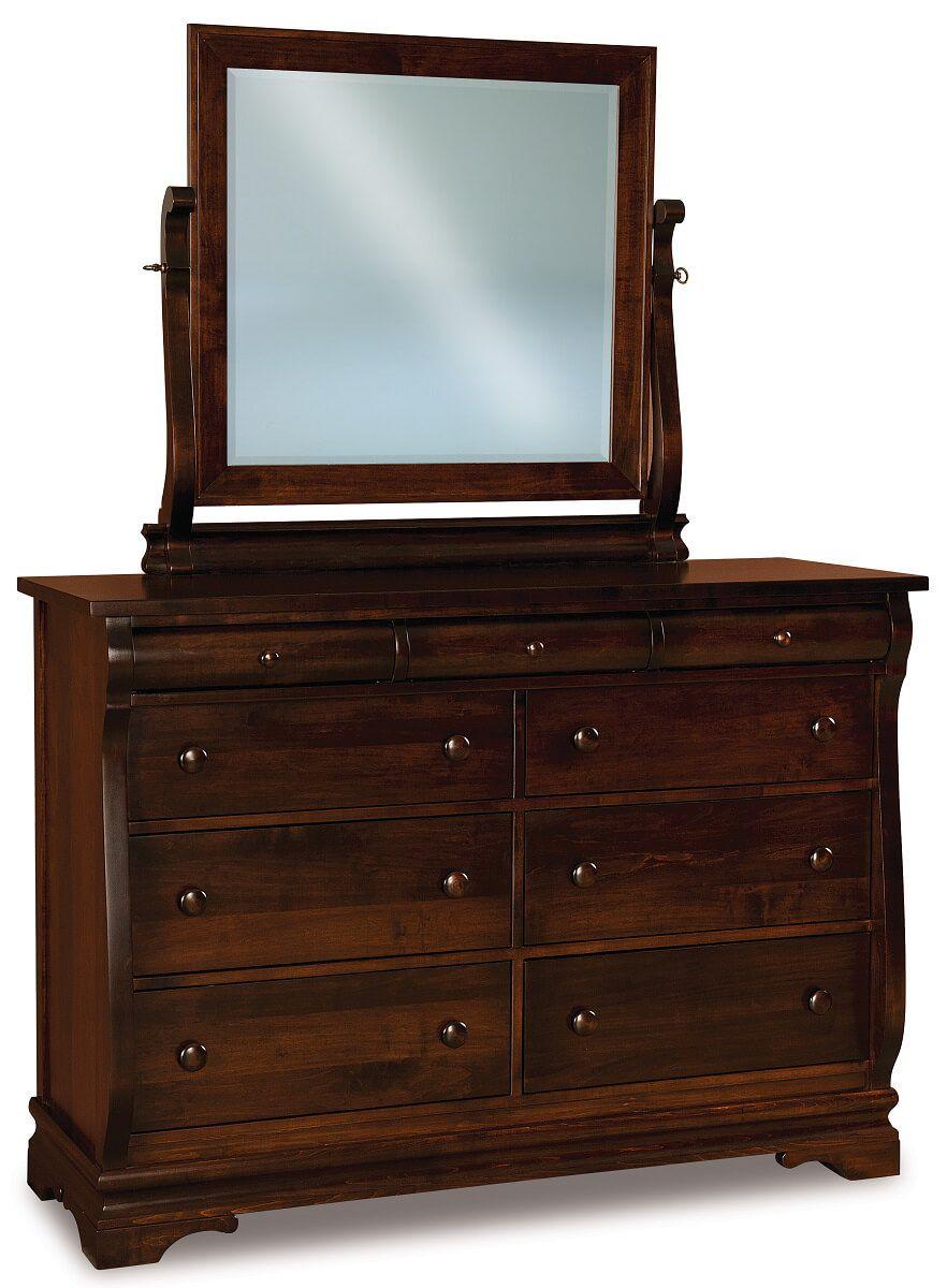 Milwaukee Sleigh Mirror Dresser