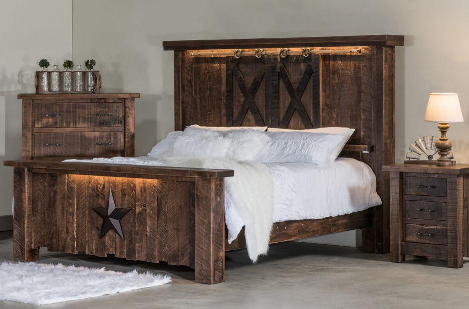 Drummond Rustic Bedroom Set, Rustic Bedroom Furniture Sets