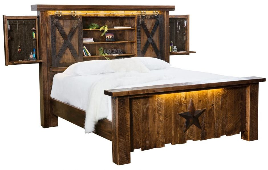 Drummond Country Rustic Bed Countryside Amish Furniture