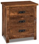 Elsmere 3-Drawer Bedside Table