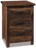 Elsmere 3-Drawer Rustic Nightstand