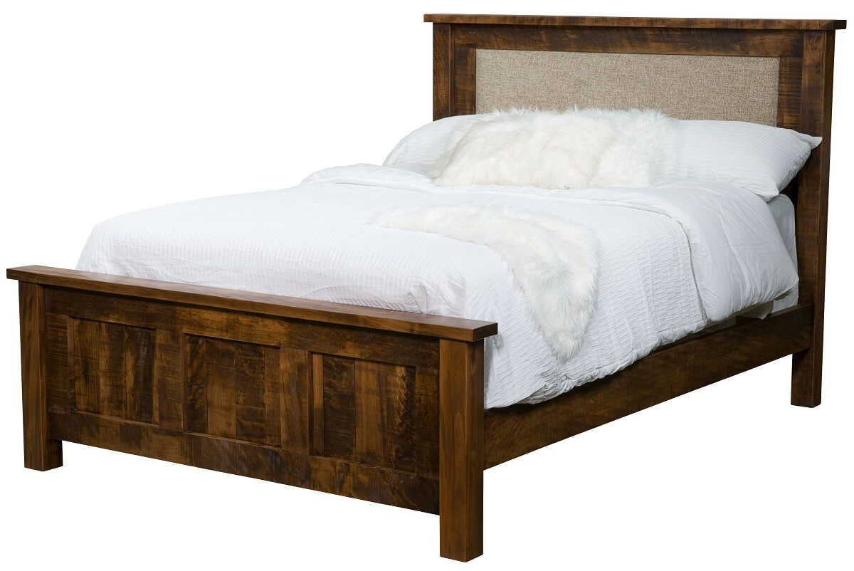 Elsmere Rustic Bed with Optional Upholstery