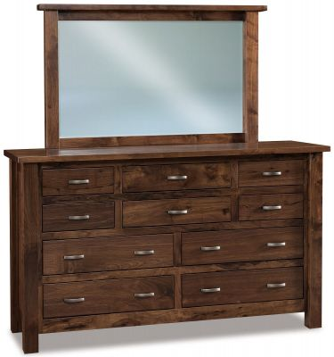 Harper Low Mirror Dresser