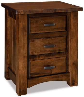 Muskegon 3 Drawer Bedside Table Countryside Amish Furniture