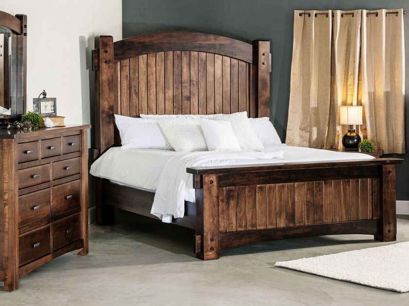Muskegon Real Wood Bedroom Set Countryside Amish Furniture