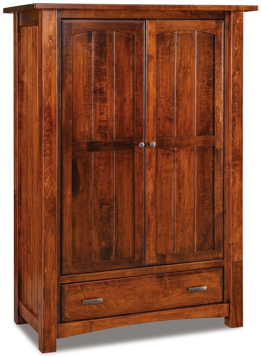 Muskegon Solid Wood Wardrobe Countryside Amish Furniture
