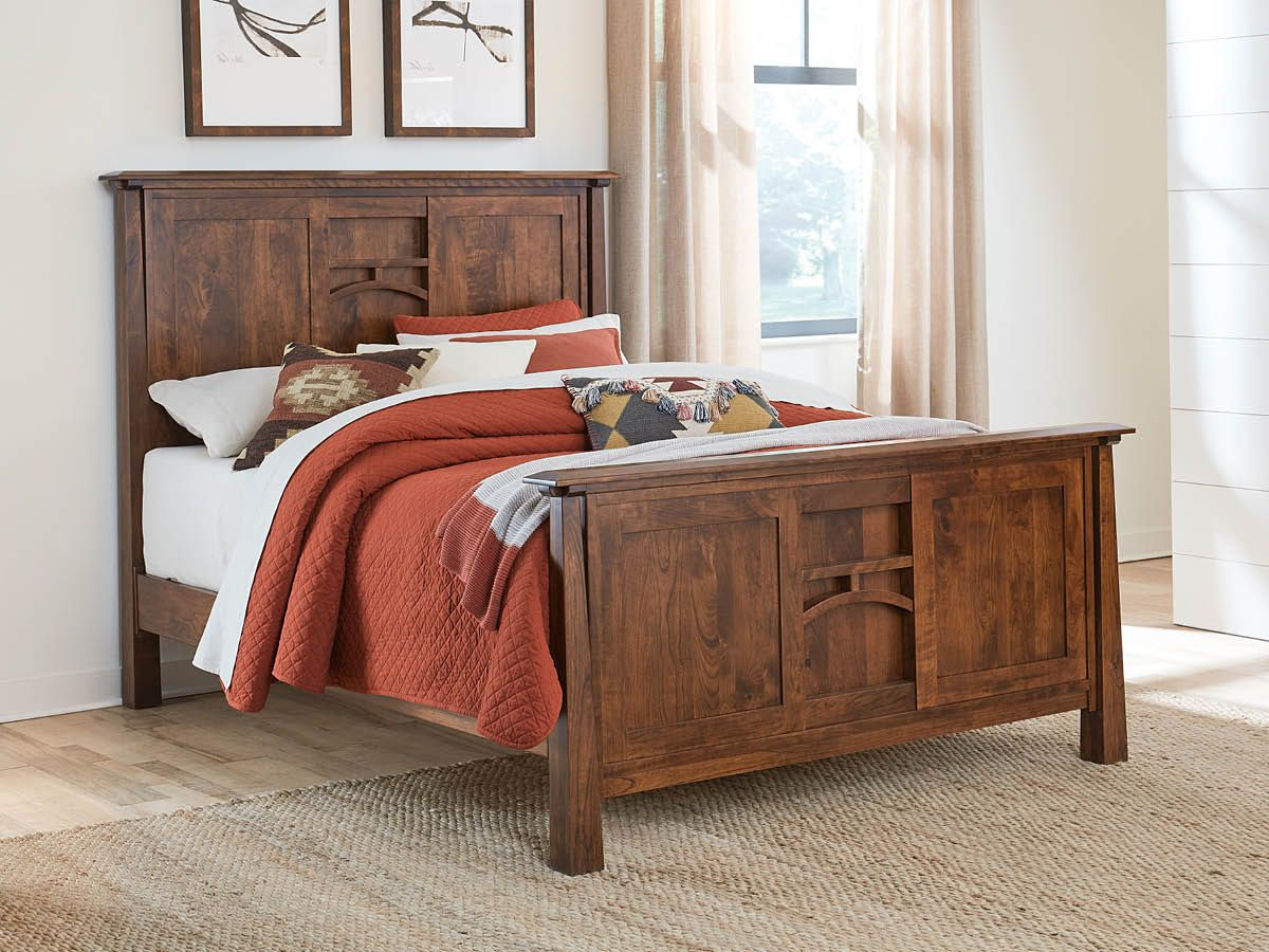 Rustic Cherry Bed Frame