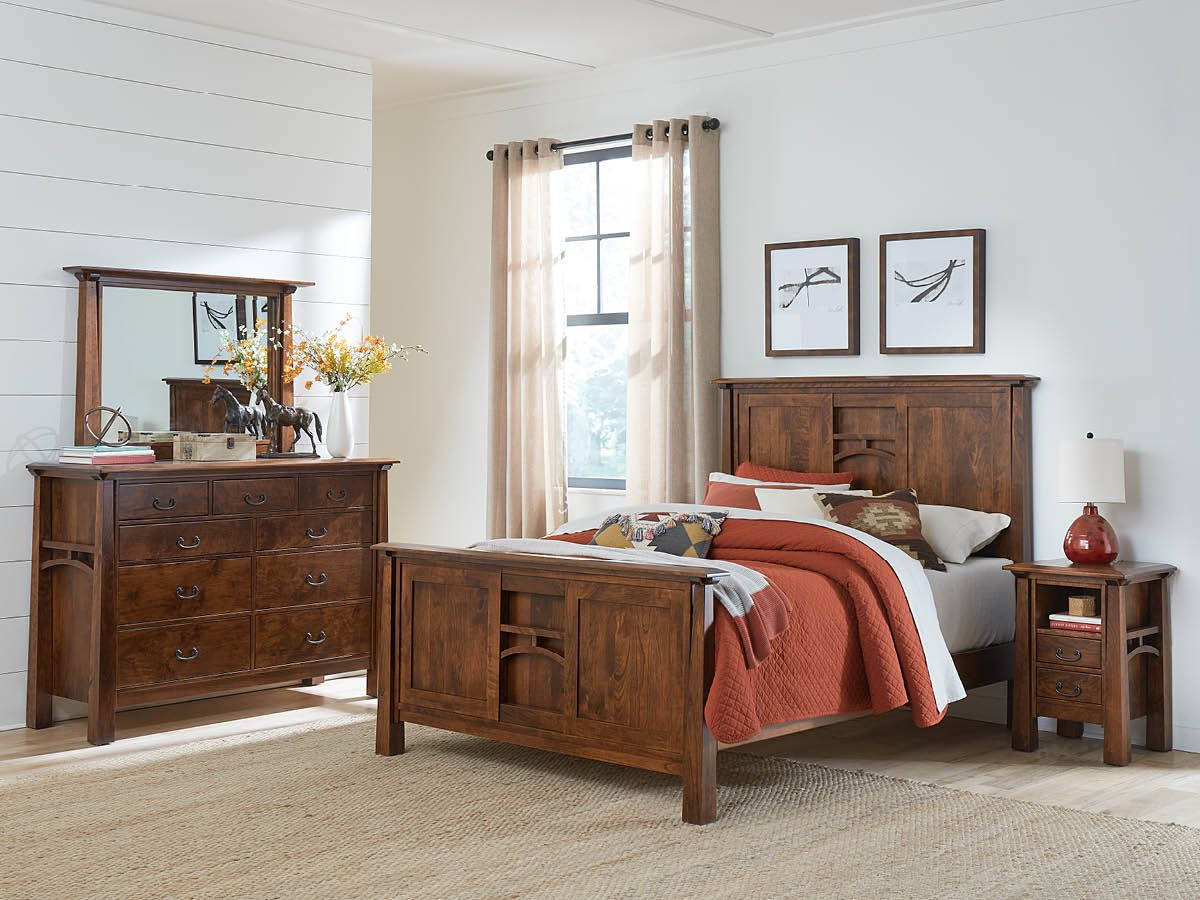 Rustic Cherry Bedroom Collection
