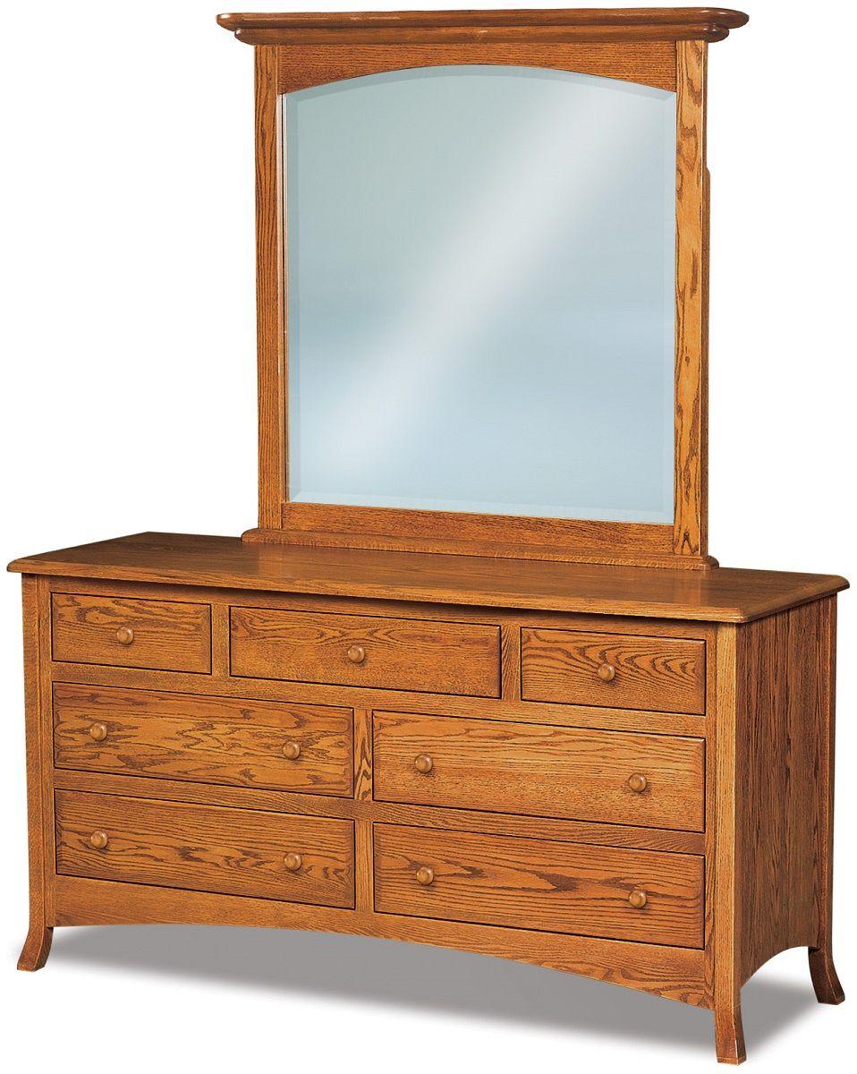 Bradley Low Mirrored Dresser