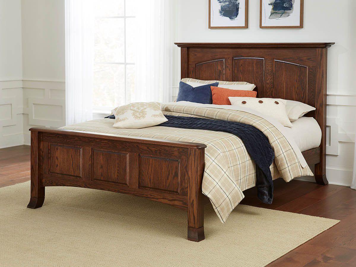 Oak Shaker Panel Bed