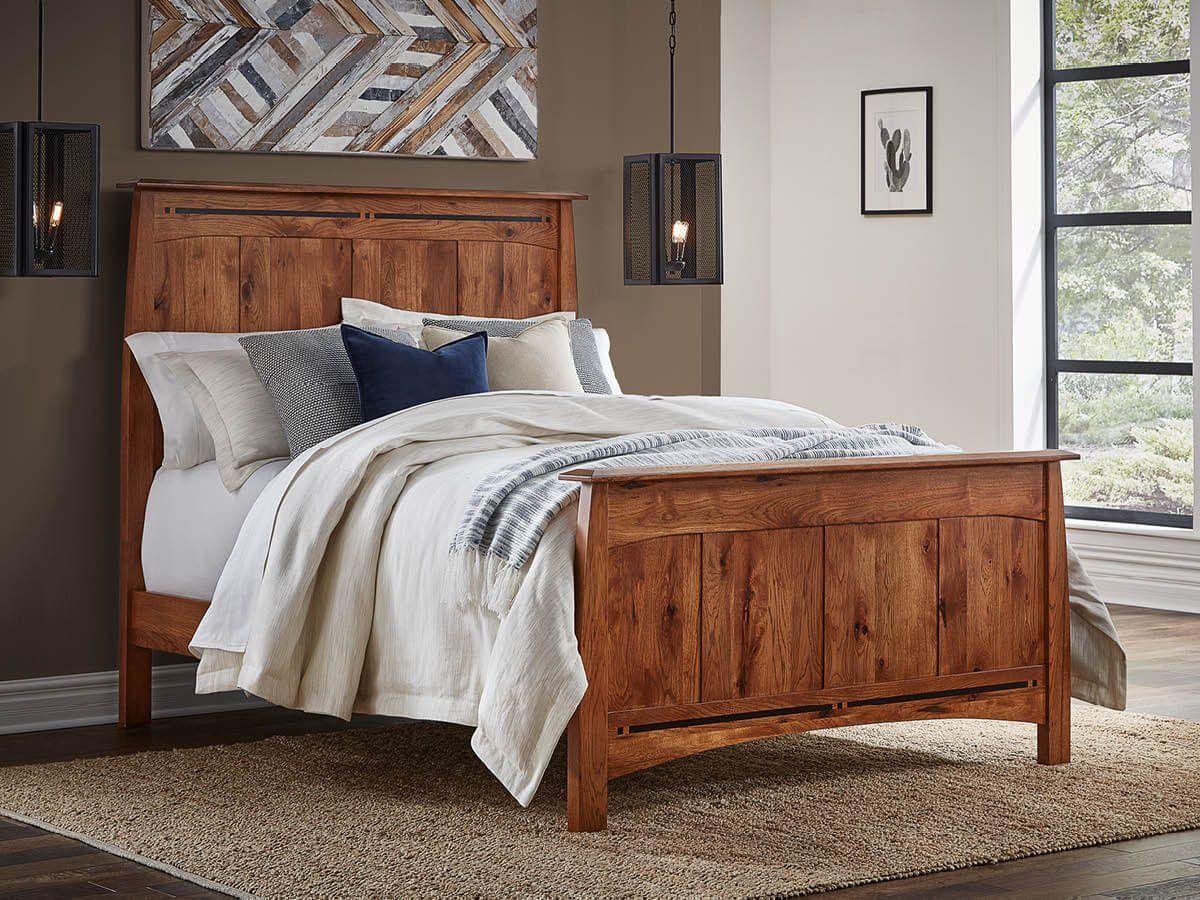 Hickory Paneled Bed Frame