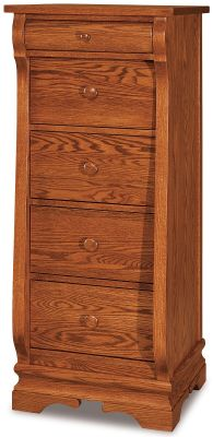 Milwaukee Sleigh 5-Drawer Lingerie Chest