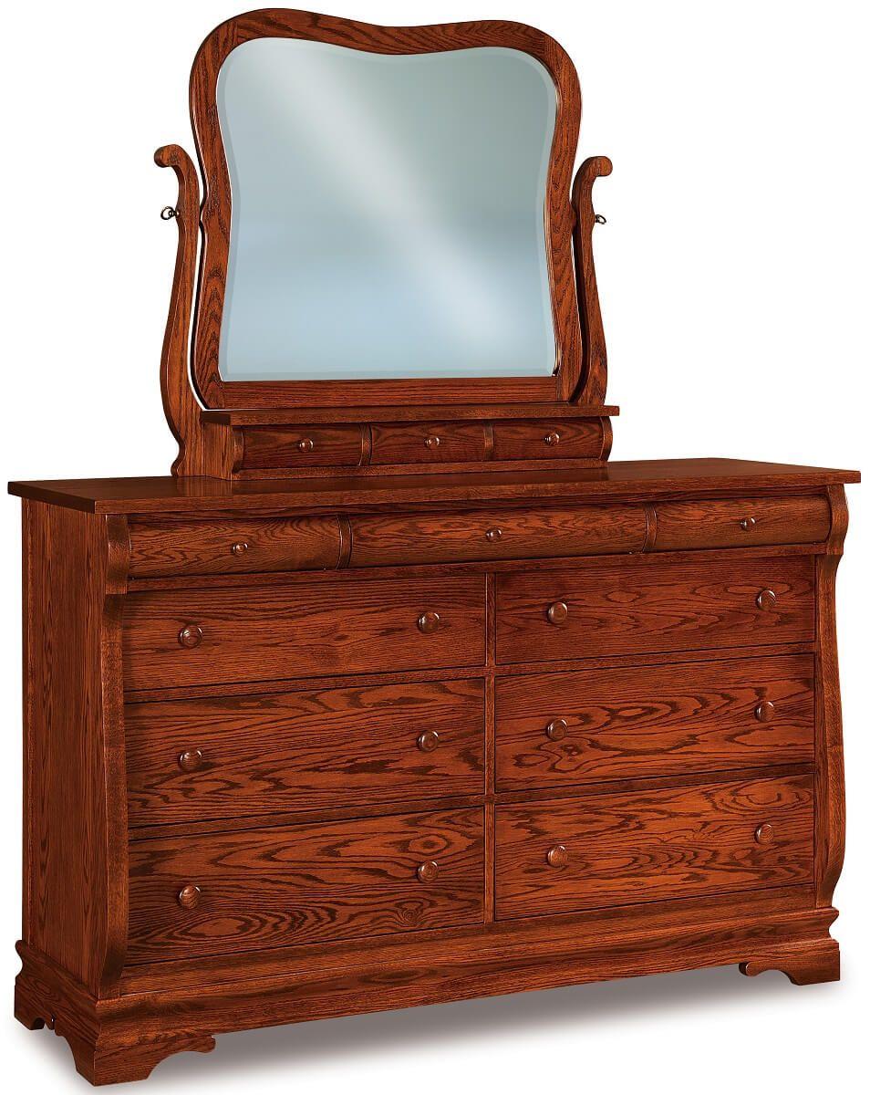 Milwaukee Sleigh 9-Drawer Dresser