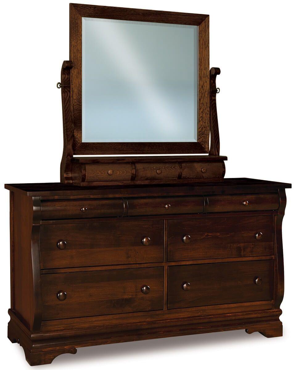 Milwaukee Sleigh Dresser with Mirror