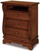 Milwaukee Sleigh Nightstand with Opening