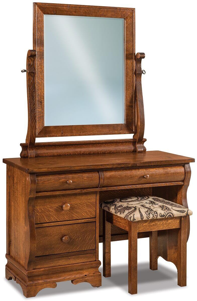 Milwaukee Sleigh Vanity Dresser