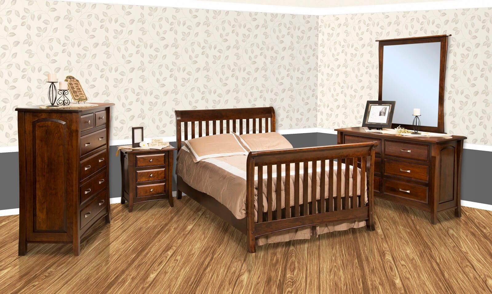 Luxembourg Solid Wood Bedroom Set