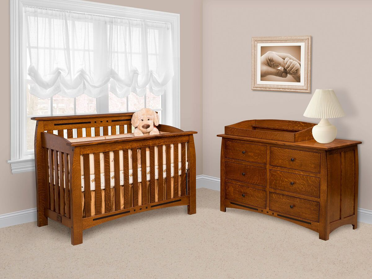 Boulder Creek Baby Furniture Set in Quartersawn White Oak