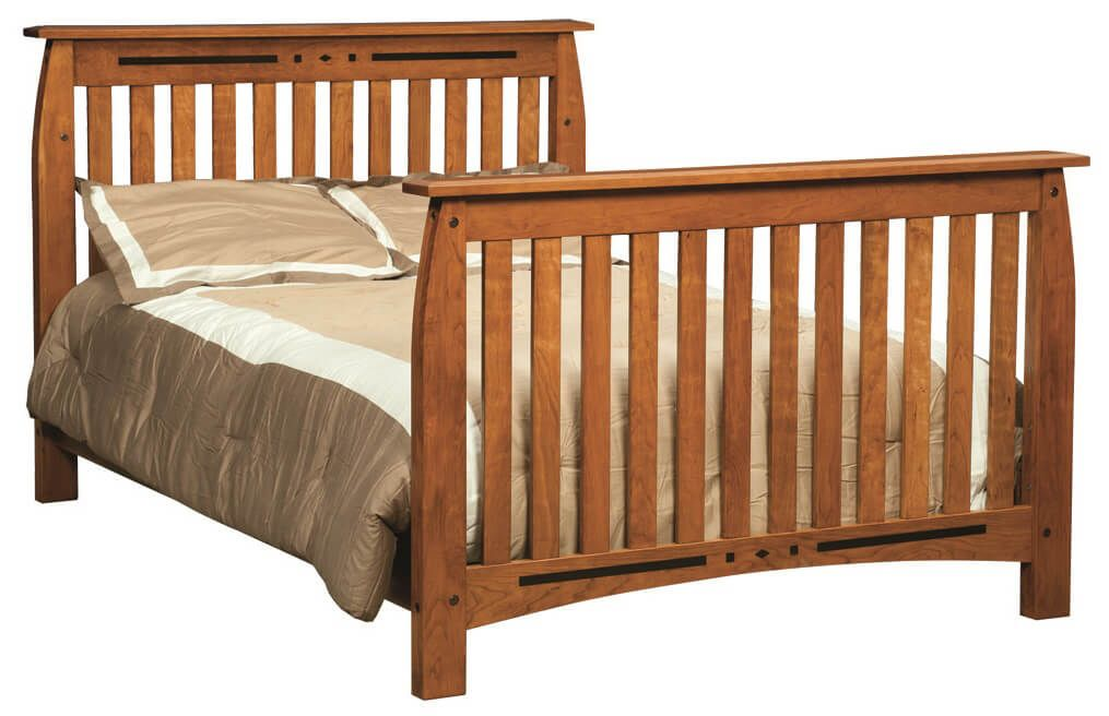 Boulder Creek Full Bed in Cherry with Cinnamon Stick