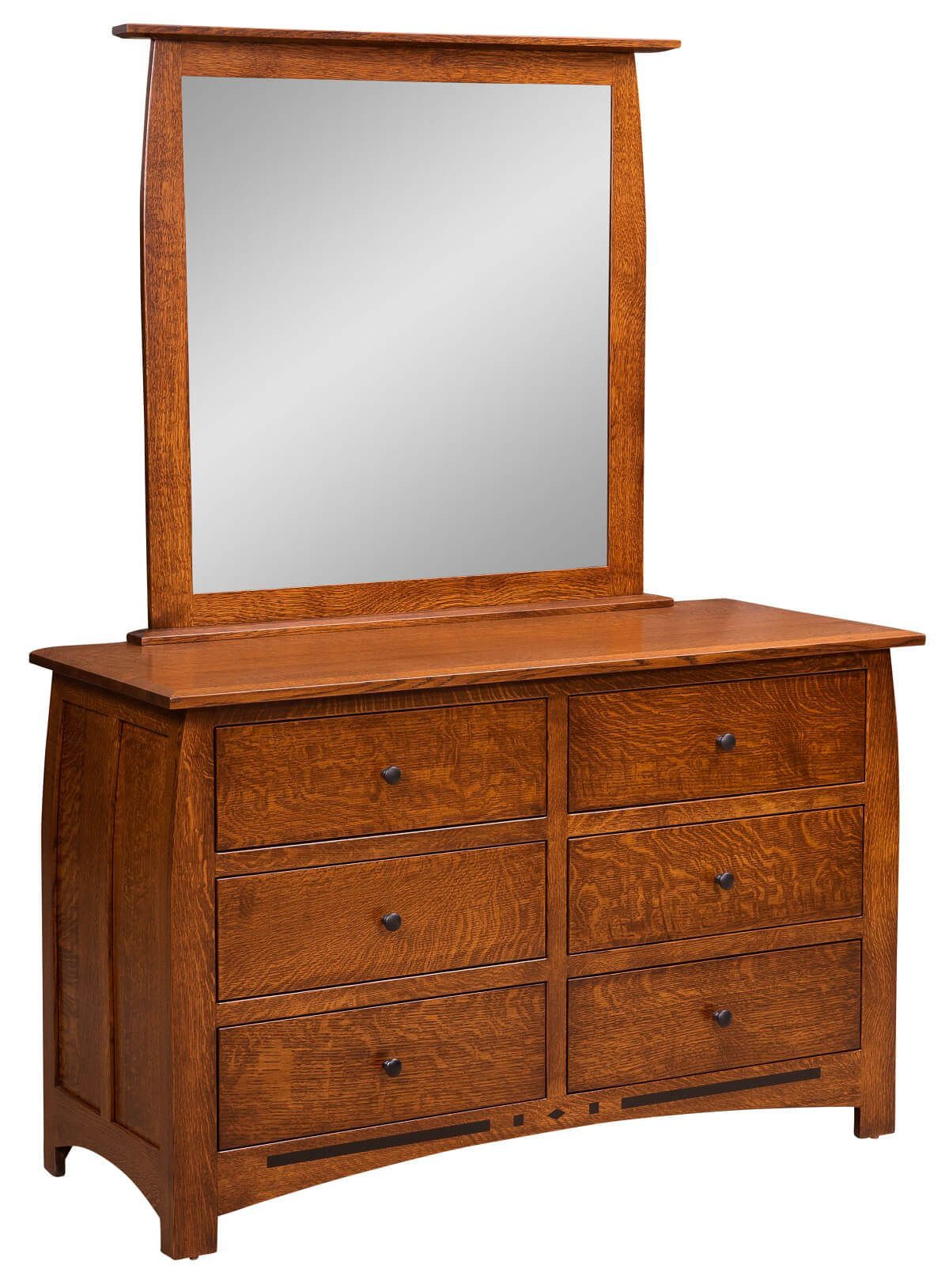 Boulder Creek Mirror Dresser in Quartersawn White Oak