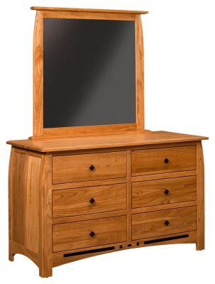 Boulder Creek Cherry Dresser with Beveled Mirror