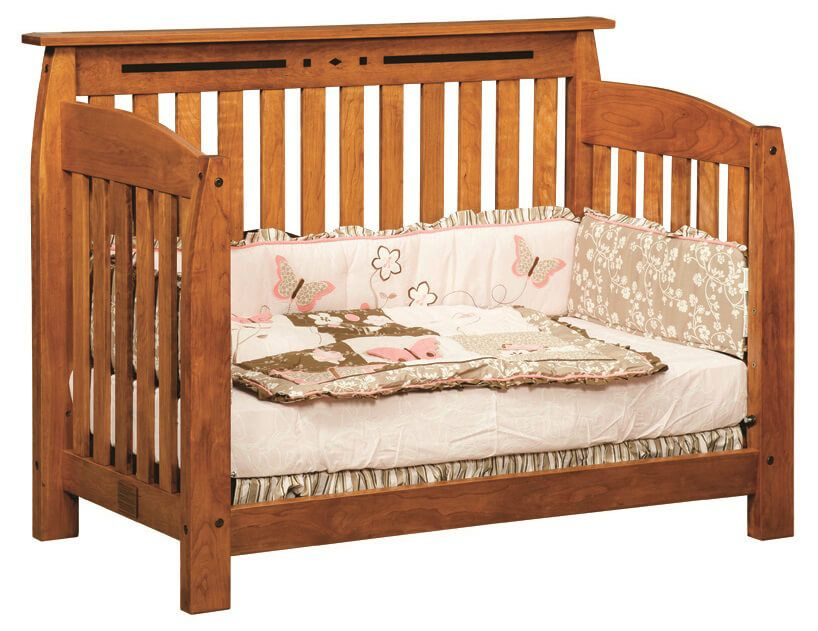 Boulder Creek Toddler Bed in Cherry with Cinnamon Stick
