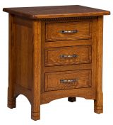 Great Bear 3-Drawer Nightstand