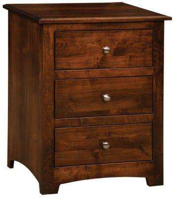 Salinas 3 Drawer Nightstand Countryside Amish Furniture