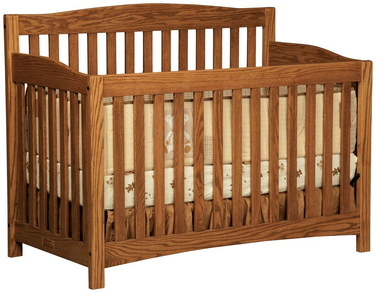 Salinas Wooden Baby Crib in Oak with Cinnamon Stick