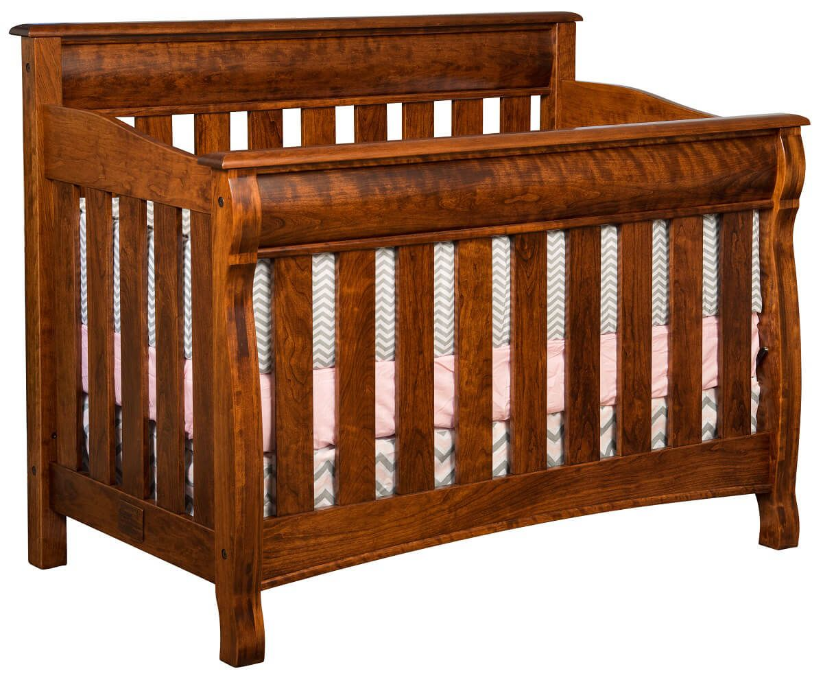 West Estates Baby Crib in Rustic Cherry