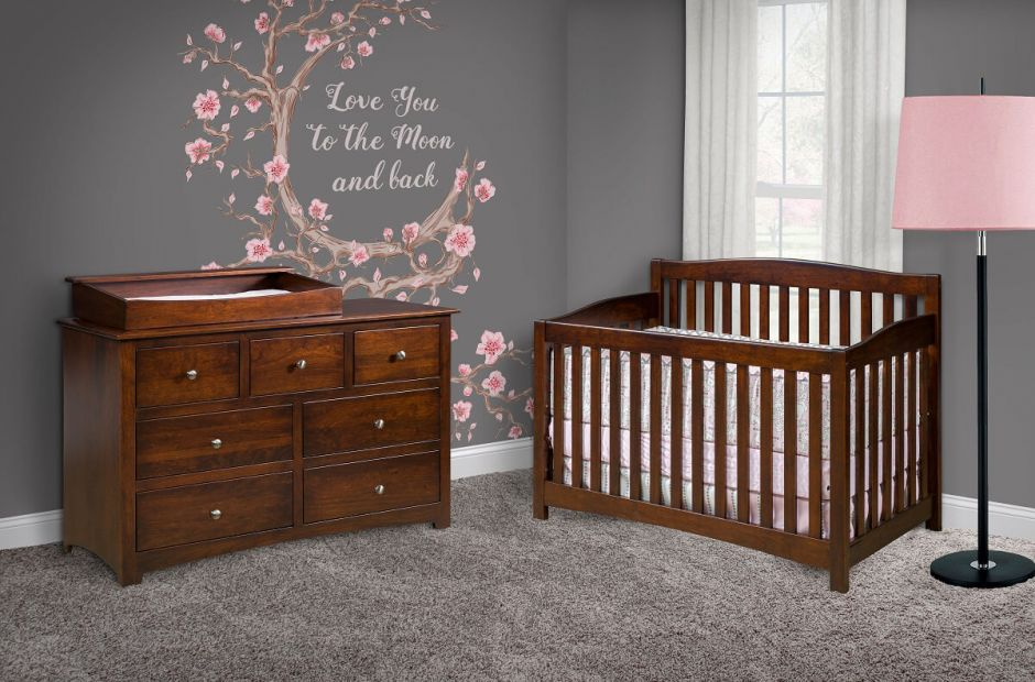 Solid Wood Baby Furniture Set Salinas Nursery Image 1