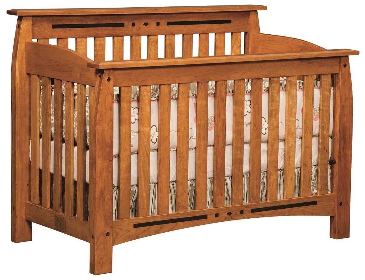 Cherry Craftsman Baby Crib