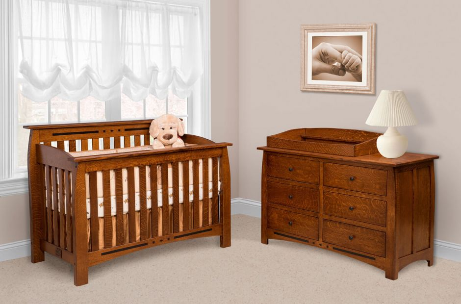 Boulder Creek Baby Crib Set Countryside Amish Furniture