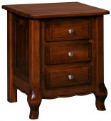 Country Cottage 3-Drawer Nightstand