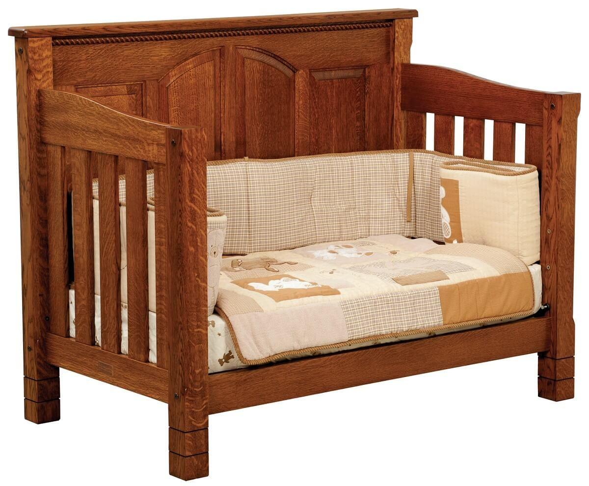Quartersawn White Oak Toddler Bed