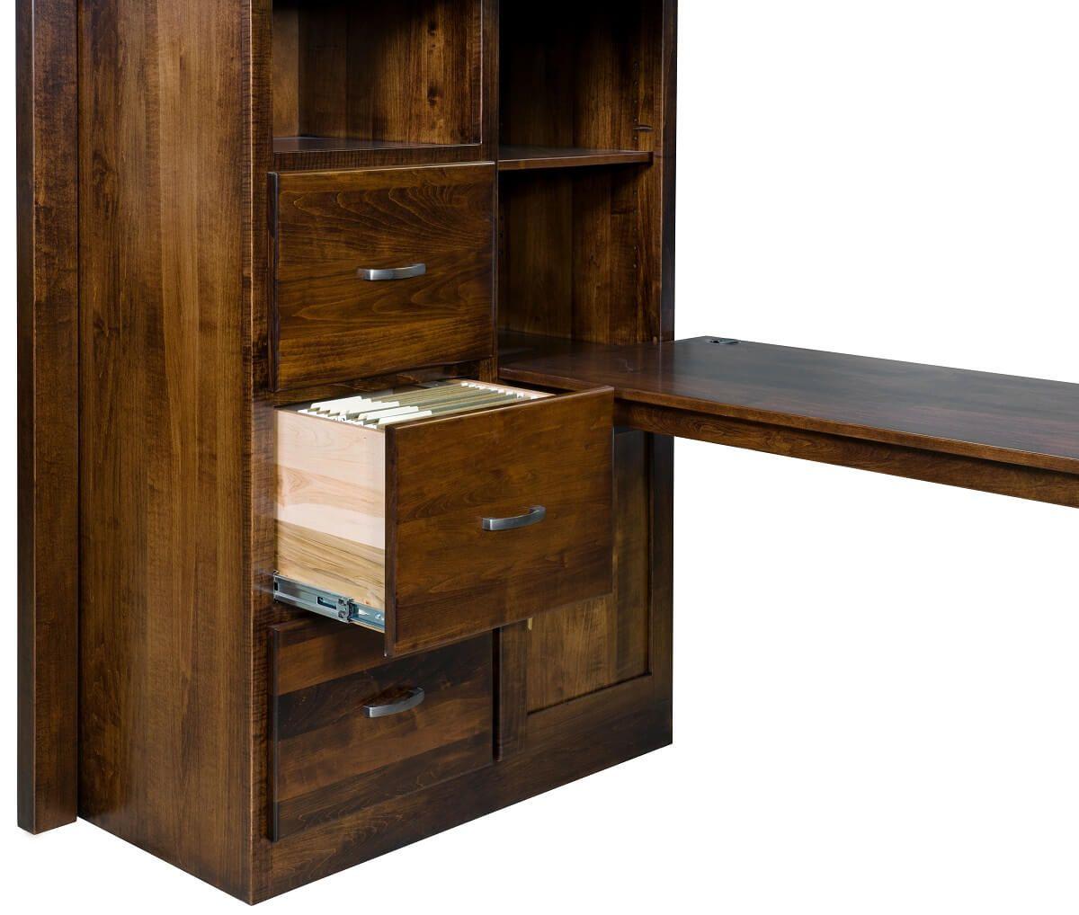 Hardwood Loft Bed with Desk