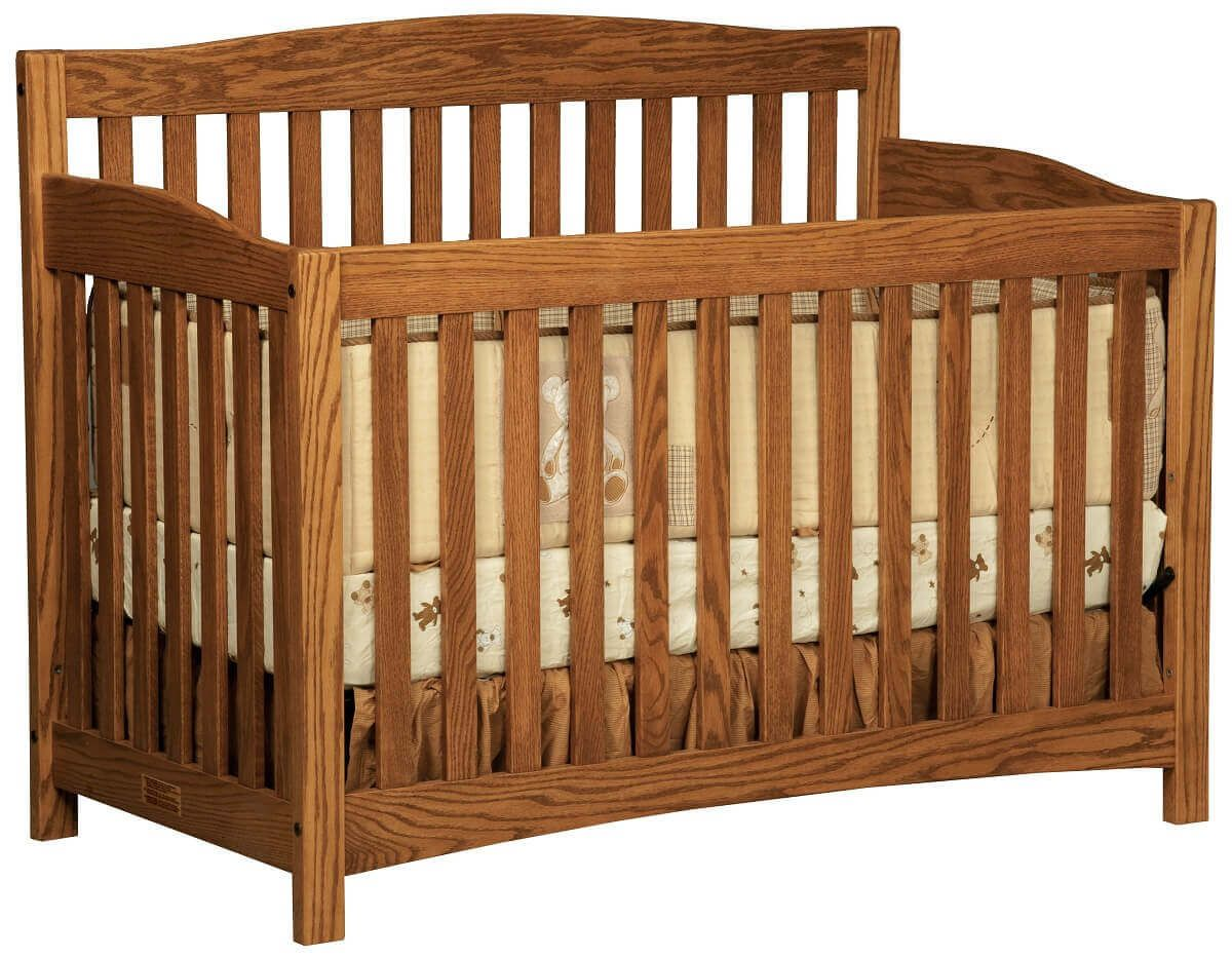 Salinas Wooden Baby Crib in Oak